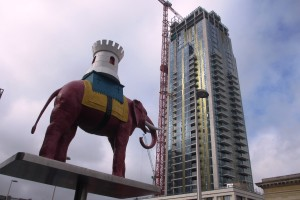 One The Elephant with statue