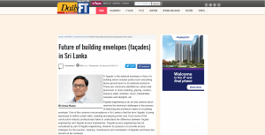 Future of building envelopes (façades) in Sri Lanka